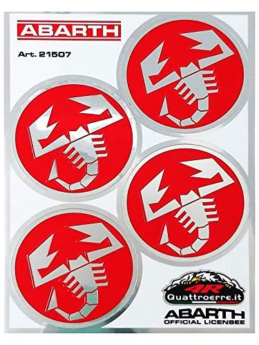 Abarth 21507Juego 4pegatinas scorpioni diámetro 48mm