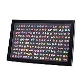 Pendientes para niñas, Comius 100 Pares Hecho a mano Hipoalergénico Color mezclado Cerámica suave Animales Pendientes de botón para Mujeres (Aguja de acero)