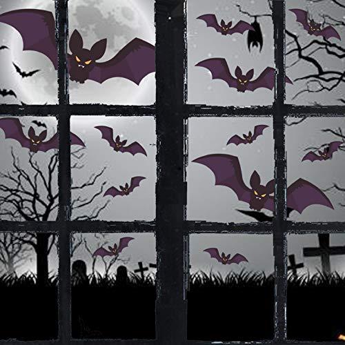 UMIPUBO Halloween Schwarze Fledermäuse Elektrostatische Aufkleber Dekoration Halloween Party Dekoration DIY Home Deko 96 pcs (Schwarz)