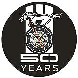 TIANYOU 記録 壁時計 レトロ マキシマ ブラケット時計 クリエイティブ アート 時計 12インチ サイレント ベル テーマ 壁時計/A