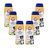 Arm & Hammer For Pets Super Deodorizing Shampoo for Dogs Best Odor Eliminating Dog Shampoo Great for All Dogs & Puppies, Fresh Kiwi Blossom Scent, 6-Pack 20 oz Bottles