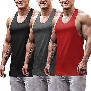 COOFANDY Men s Sleeveless T Shirt 3 Pack Gym Workout Tank top Sport Training Tee