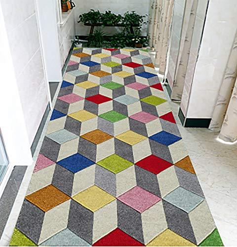 LQ Küche Teppiche Teppiche, Die In Türen Geschnitten Werden Können, Flur Hotels Mit Gemischten Materialien, Rechteckigen KTV Teppiche, Pflanzen Und Blumen Gang Treppenkissen