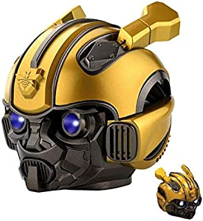Bumblebee Transformers cassa Bluetooth Speaker Wireless V5.0,TF Card & MP3 Player,3W with 1200MAh Battery,Subwoofer Smart Speakers Best Gift for Birthday for Kid Gift LED Flashing Light BT Boombox h