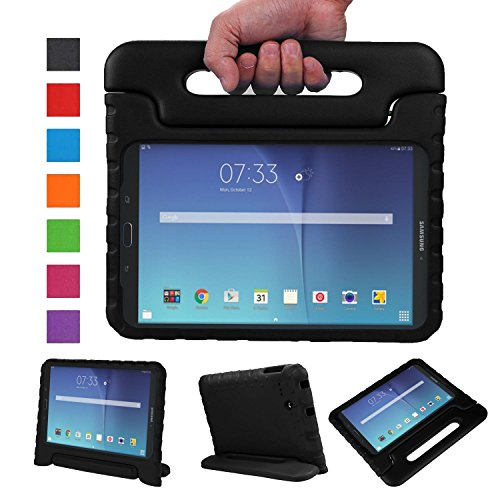 NEWSTYLE Tab E 8.0 Kids Case - Shockproof Light Weight Protection Handle Stand Kids Case for Samsung Galaxy Tab E 8.0 Inch 2015 Tablet (Not Fit Tab E 9.6 or Other Tablet) (Black)