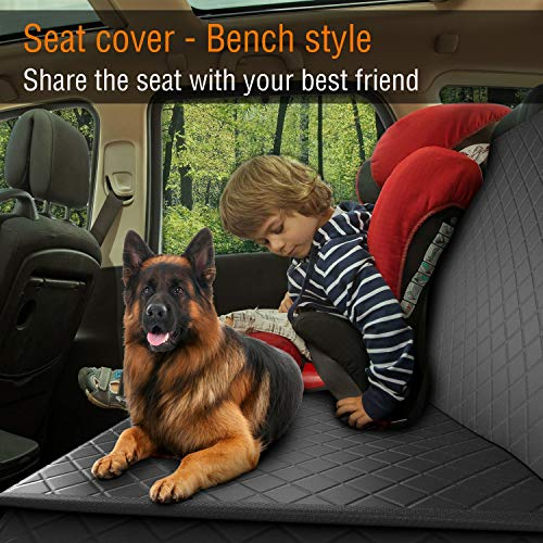 Dog Back Seat Cover Protector Waterproof Scratchproof Nonslip Hammock for Dogs Backseat Protection Against Dirt and Pet Fur Durable Pets Seat Covers for Cars