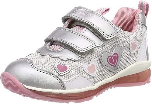 Geox B Todo Girl A, Zapatillas Niñas, Plateado, 20 EU