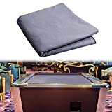 haxTON Pool Table Felt Accessories Billiard Cloth for 7, 8, 9 Foot Table Choose from Standard Green,Green, Navy Blue, Red, Blue or Black Billiard Table Felt for Pool Table (Light Gray, 8 Feet)