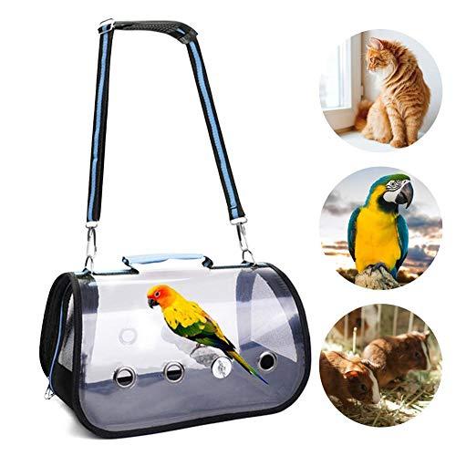 yummyfood Vögel Transportbox Vogel Transportkäfig Mit Barsch Faltbare Transparente Atmungsaktive Haustiere Transporttasche Für Kleine Vögel, Katzen Und Kleine Hunde, 32x17x18cm
