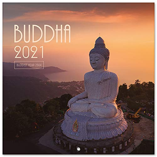 Erik - The Buddha 2021 Wall Calendar, Monthly Planner, (16 Months), 11.8 x 11.8 inches