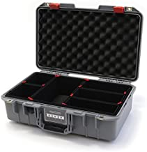Silver & Red Pelican 1485 Air case with Trekpak dividers.