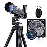 Telescopios para Niños y Principiantes Telescopios Refractores para Astronomía - Observación de la Luna, Observación de Aves, Observación del Paisaje Natural