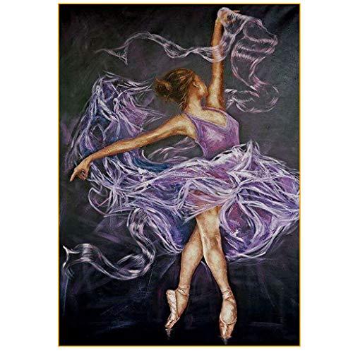 Pintura de Diamante 5D para Niña Ballet Completo por Número Puzzles 5D Diamantes de Imitación Bordado Punto de Cruz kit Diamantes Painting Familia Cuadro para Salon30 x 40 cm