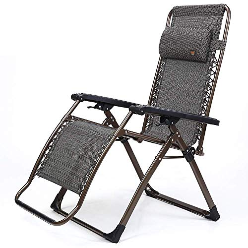 BH Folding chair Chaise longue Adjustable for office Nap bed Senior man Portable leisure chair Garden Beach Camping Sunbed, Lightweight, Load 250 kg