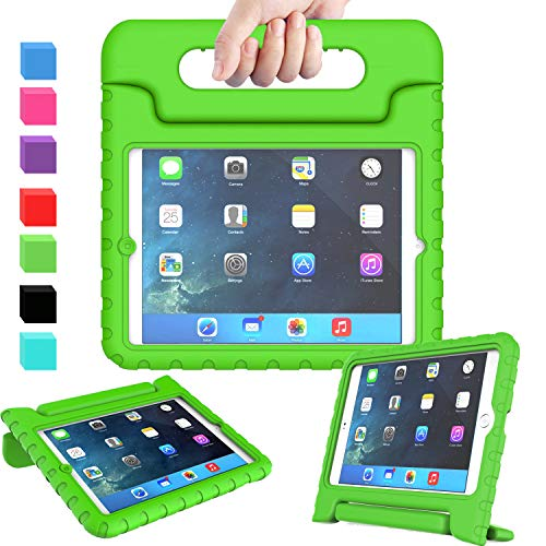 AVAWO Kids Case for iPad Mini 1 2 3 - Light Weight Shock Proof Handle Stand Kids for iPad Mini, iPad Mini 3rd Generation, iPad Mini 2 with Retina Display - Green