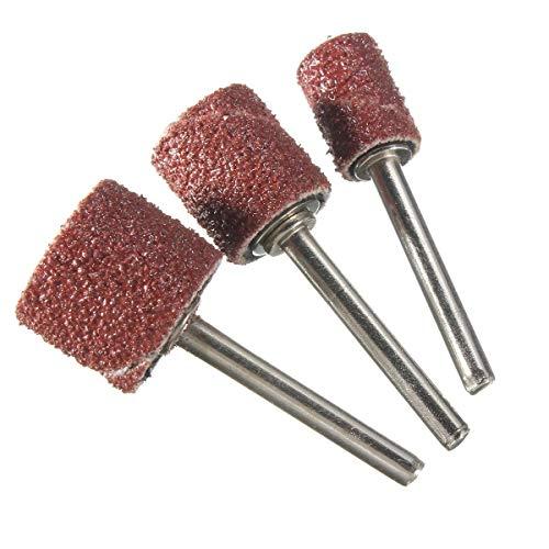 MOUNTAIN MEN Herramientas profesionales, 90pcs / set banda de lijado + 12pc 1/2 pulgada 3/8 pulgada 1/4 pulgada tambor de lijado for la herramienta rotativa amplia gama de aplicaciones Bien hecho