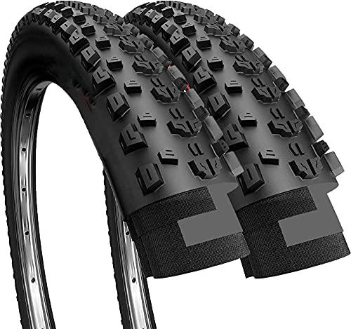 Cylficl Par de neumáticos de bicicleta para bicicleta de carretera de montaña, de 26 x 2,25 pulgadas