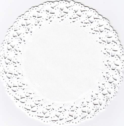 Vassoi per torte, rotondi, 24 cm, 250 pezzi, colore bianco