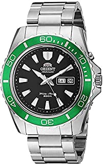 Orient Men's Mako XL Japanese-Automatic Watch with Stainless-Steel Strap, Silver, 22 (Model: FEM75003B9) (B077NN33XC)   Amazon price tracker / tracking, Amazon price history charts, Amazon price watches, Amazon price drop alerts