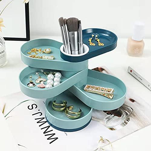 Caja Joyero Caja de joyería de 5 capas Pendiente / collar Caja de anillo Caja de cosméticos Caja de almacenamiento de joyas para pendiente Joyería Organiza Organizador de Joyas ( Color : Light green )