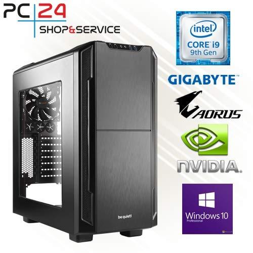 PC24 Gamer PC | Intel i9-9900K @8x4,50GHz | 500GB M.2 970 EVO Plus M.2 SSD | nVidia GF RTX 2080Ti mit 11GB RAM | 32GB DDR4 PC2666 RAM G.Skill | Gigabyte Z390 Aorus Pro | Windows 10 Pro | Gaming PC