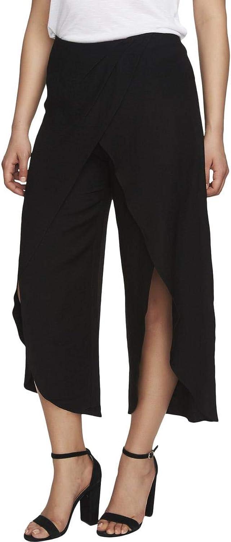 CeCe Womens SplitLeg Wrap Wide Leg Pants Black 14