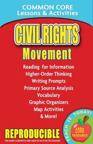 Civil Rights Movement Common Core Lessons And Activities