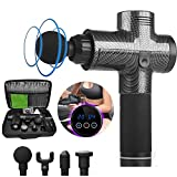 JUMOWA Gun Muscle Massager Deep Tissue Cordless Percussive Muscle Gun for Athletes Quiet Powerful, Handheld Massager Delivers Therapeutic, 20 Speeds Adjustable Relief for Ache Lactic Acid Pain