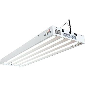 Hydrofarm FLT44 System 4' Fluorescent Grow Light, 4-Feet, White