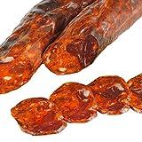 Chorizo Cular Iberico - Embutidos Ibericos de Bellota Pata Negra - Envasados al Vacio - Aromático y Especiado con Pimentón de la Vera Ajo y Sal Marina - Elaboración Tradicional - 1 Pieza 500 gr aprox