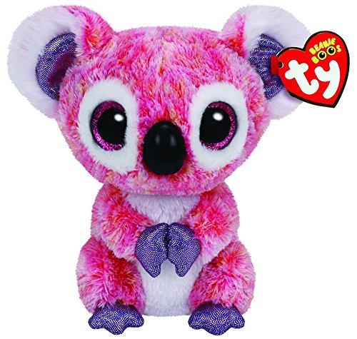 TY 36149 36149-Kacey-Koala mit Glitzeraugen, Plüschtier, 15 cm, pink