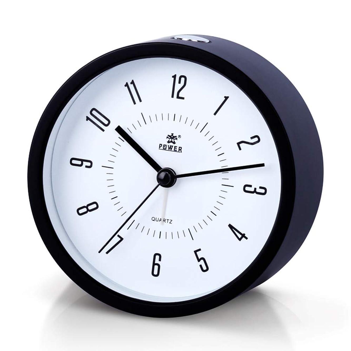 絶妙データ委員会Aelfox 目覚まし時計 アナログ 非電波 音無し置き時計 アナログ 連続秒針 電池式 スヌーズ 照明ライ(ブラック)