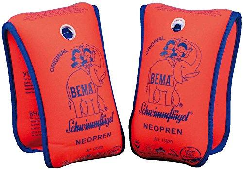 Bema Schwimmflügel Neopren für Kinder von 1-6 Jahre (11-30 kg, Orange)