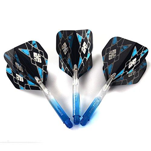 CUESOUL 16 Gramm Soft Tip Darts – blau/schwarz - 8
