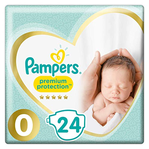 Pampers Premium Protection Baby Windeln, Gr.0 Micro (1,5-2,5 kg), Tragepack, 1er Pack (1 x 24 Stück)