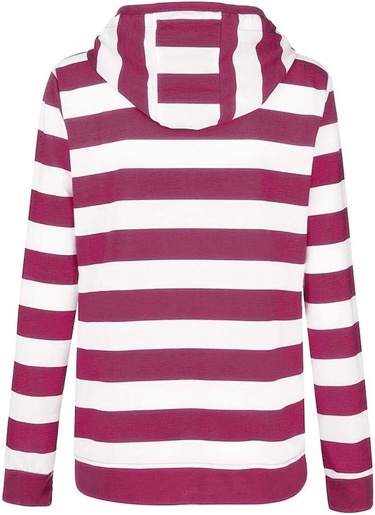 TOPKEAL Hoodie Pullover Damen Herbst Winter Kapuzenpullover mit Kapuze Sweatshirt Winterpullover Casual Slim Jacke Mantel Tops Mode 2019 Hot Rosa