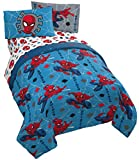 spiderman quilt - Jay Franco Marvel Spiderman Spidey Faces 5 Piece Full Bed Set - Includes Reversible Comforter & Sheet Set Bedding - Super Soft Fade Resistant Microfiber - (Official Marvel Product)