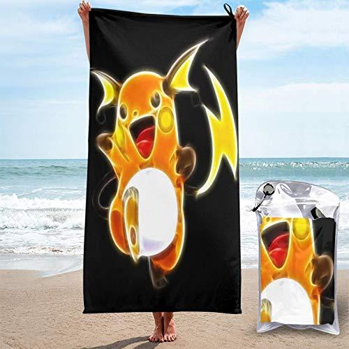 Toalla de secado rápido P-Ikachu toallas de microfibra absorbentes y livianas para acampar/deportes/viajes/fitness 81.5 x 163 cm