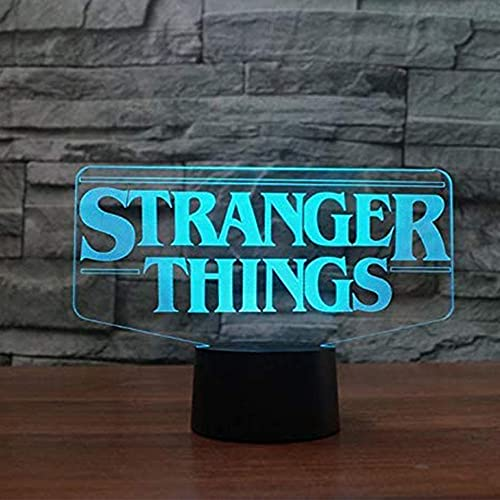 Anime Lights 3d Led,Stranger Things American Web TV Series Led Night Light 7 Colores que Cambian el Sensor Táctil,Dormitorio Lámpara de Mesa Con luz Nocturna El Mejor Regalo LED Night Lights