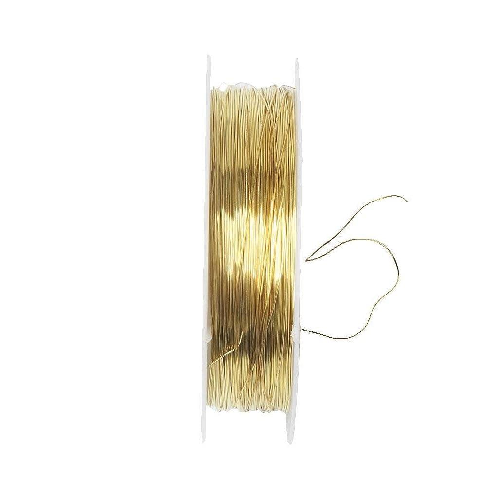 動葉を拾う貼り直すSODIAL リボンロール 22mジュエリー作り用メタルワイヤー、クラフトプロジェクト用品0.m - ゴールド