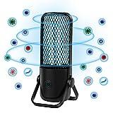 FiGoal UV Light Sanitizer Lamp Portable UVC Germicidal Travel Disinfectant for Car Net (Black)