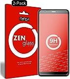 ZenGlass [2 Stück Flexible Glas-Folie kompatibel mit ASUS Zenfone Max Plus ZB570TL Panzerfolie I Bildschirm-Schutzfolie 9H I (Kleiner Als Das Gewölbte Bildschirm)
