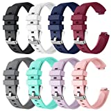 Goseth Compatible with Fitbit Ace 2 Bands Fitbit Inspire Fitbit Inspire Hr for Kids 6+, Replacement Silicone Accessories Bracelet for Fitbit Ace 2 Fitness Tracker (8 Pack)
