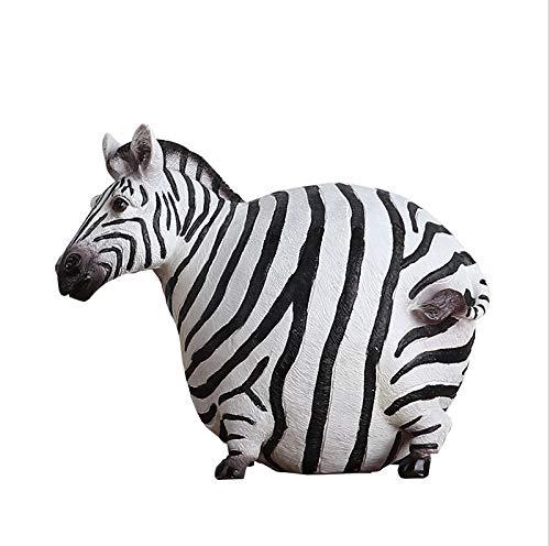 SCDZS Cebra Estatua estatuilla Animal Creatividad Estilo Nórdico Accesorios for el hogar...