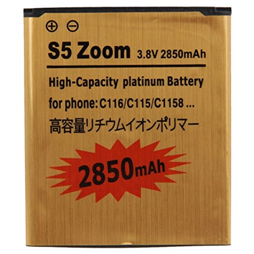 S5 Zoom 2850mAh High Capacity Gold Business Battery for Samsung Galaxy K zoom / Galaxy S5 zoom / C116 / C115 / C1158