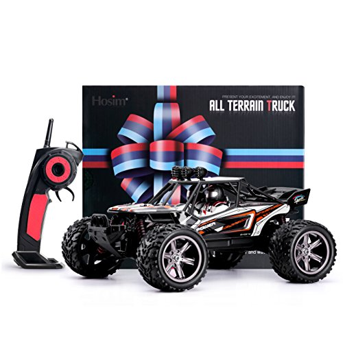 RC Auto kaufen Truggy Bild 6: Hosim RC Truck S913, 1 12 Scale Funk Controlled Electric Car 38 km h Offroad 2,4 GHz 2WD Radio Controlled Truggy Auto Enthusiasten (Orange)*