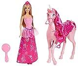 Mattel Barbie - Bjp46 - Poupée - Barbie Princesse et sa Licorne