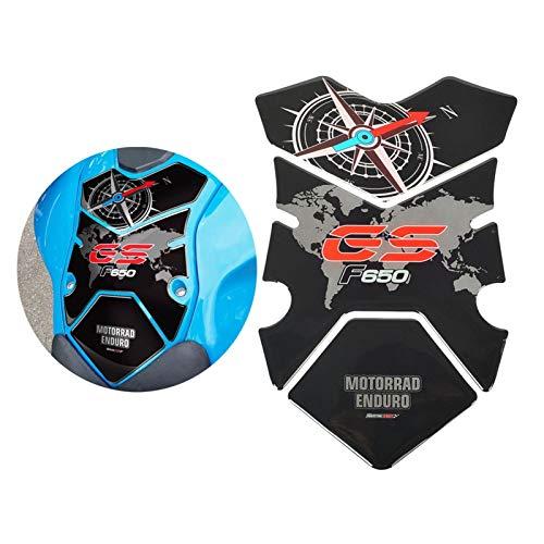 Wjyfexble Cassa del pad del serbatoio del gas del carburante del motociclo 3D per BMW F650GS 2008-2012 WYJHN