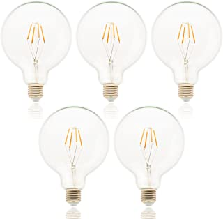 LED retro Edison Bombillas de espejo Bombilla E27AC 220V LED C35G45A60ST64G80G95G125Vintage Bombillas decorativa Globo Bombillas, vidrio, G125, E27, 4.00W, 220.00V