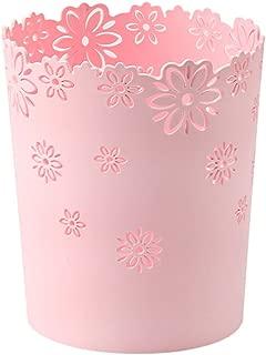 Wastebasket,Hmane Hollow Flower Shape Plastic Lidless Wastepaper Baskets Trash Can - S